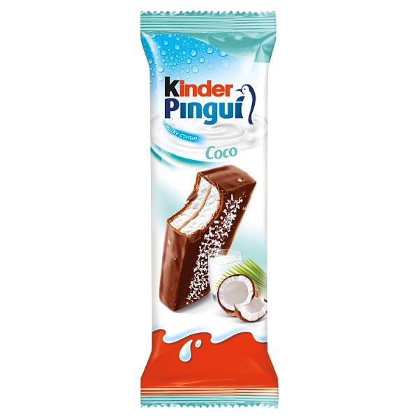 Kinder Pingui Coco Biszkopt z mlecznym i kokosowym nadzieniem pokryty mleczną czekoladą 30 g