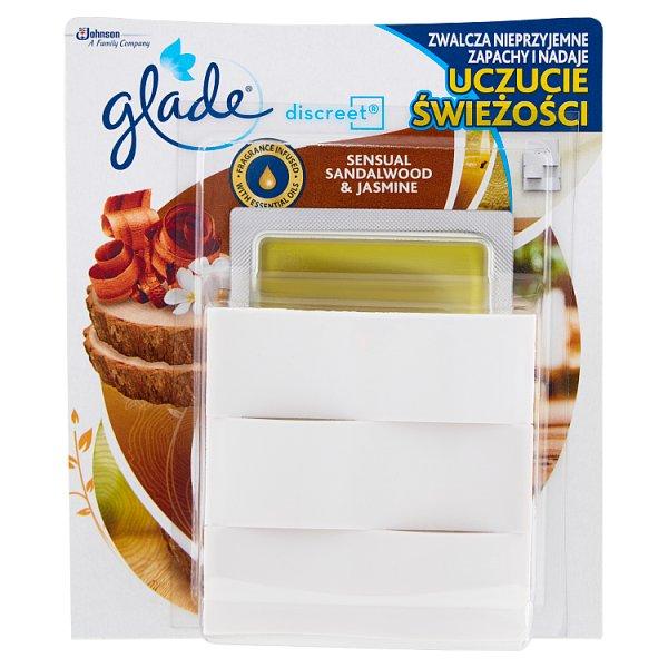 Glade Discreet Sensual Sandalwood & Jasmine Elektryczny odświeżacz powietrza 8 g