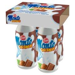 Zott Monte Drink Napój mleczny z czekoladą i orzechami laskowymi 380 ml (4 x 95 ml)
