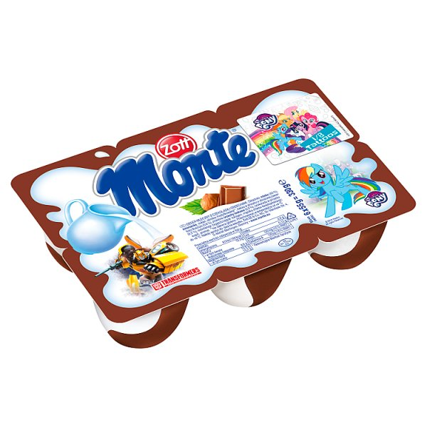 Zott Monte Deser mleczny z czekoladą i orzechami 330 g (6 x 55 g)