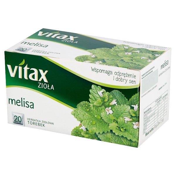 Vitax Zioła Herbatka ziołowa melisa 30 g (20 x 1,5 g)