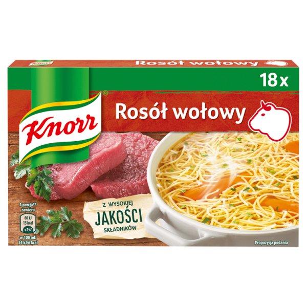 Knorr Rosół wołowy 180 g (18 x 10 g)