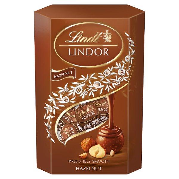Lindt Lindor Praliny z czekolady mlecznej z orzechami laskowymi 200 g