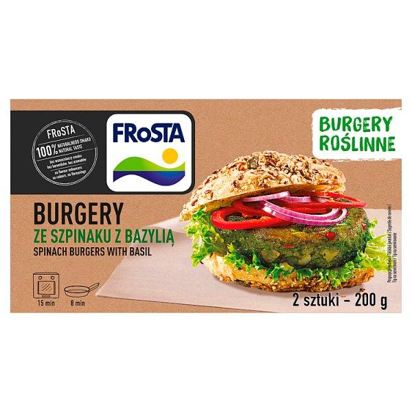 FRoSTA Burgery ze szpinaku z bazylią 200 g (2 sztuki)