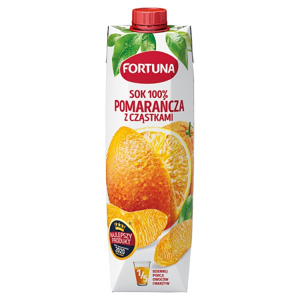 Fortuna Sok 100% pomarańcza z cząstkami 1 l