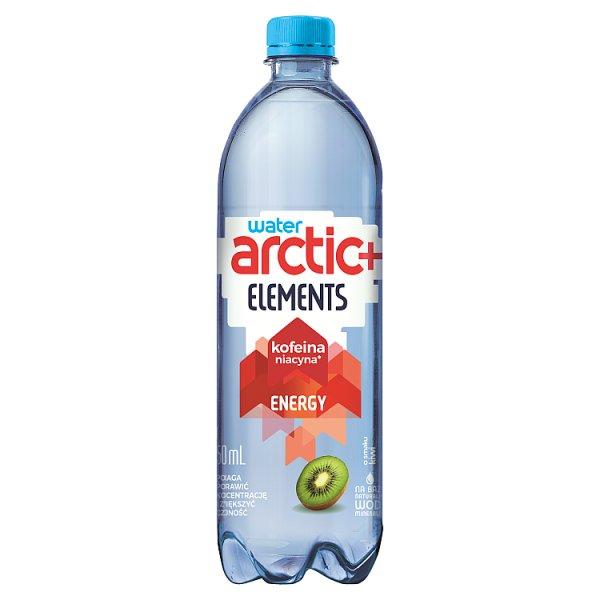 Arctic+ Elements Energy Napój niegazowany o smaku kiwi z dodatkiem kofeiny wzbogacony niacyną 750 ml