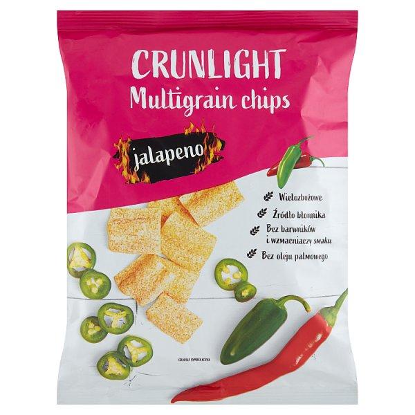 Crunlight Chipsy wielozbożowe jalapeno 70 g