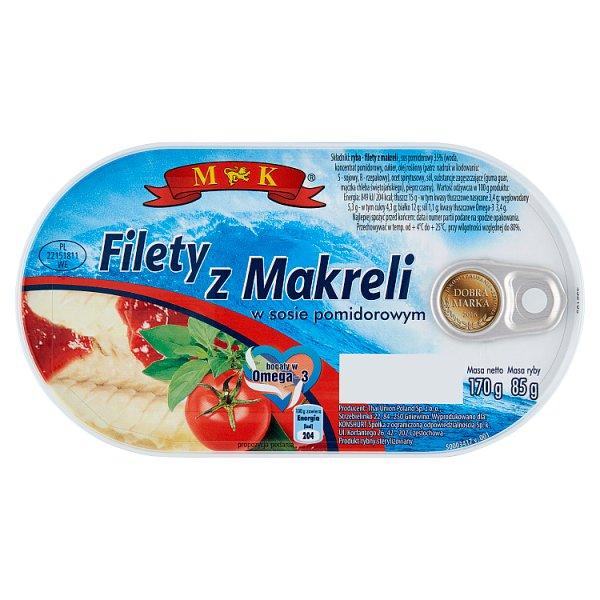 MK Filety z makreli w sosie pomidorowym 170 g