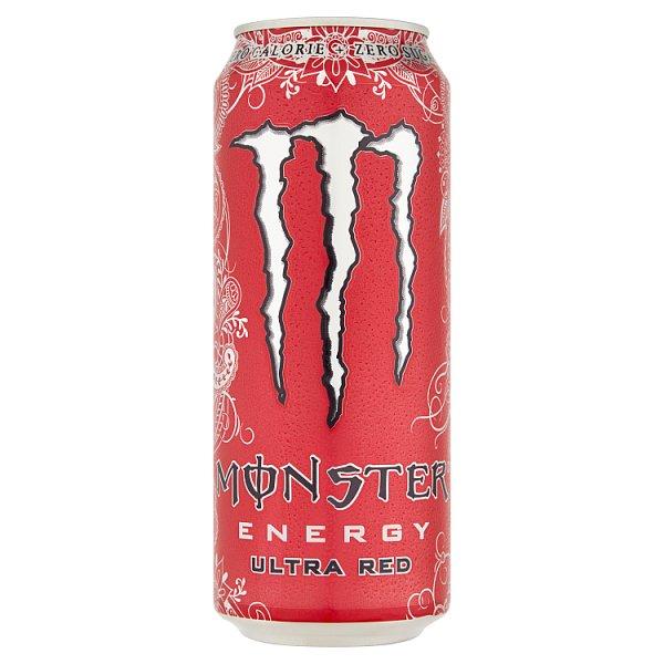 Monster Energy Ultra Red Gazowany napój energetyczny 500 ml