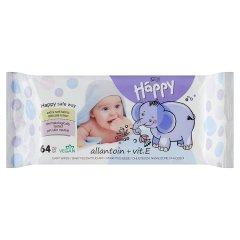 Bella Baby Happy Allantoin + Vit. E Chusteczki nasączone dla dzieci 64 sztuki
