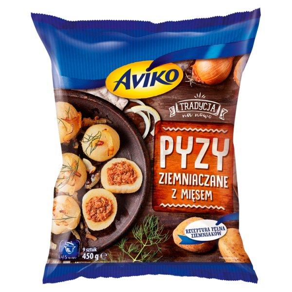 Aviko Pyzy ziemniaczane z mięsem 450 g (9 sztuk)