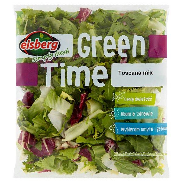 Eisberg Green Time Toscana mix z rukolą Mieszanka świeżych krojonych warzyw 170 g
