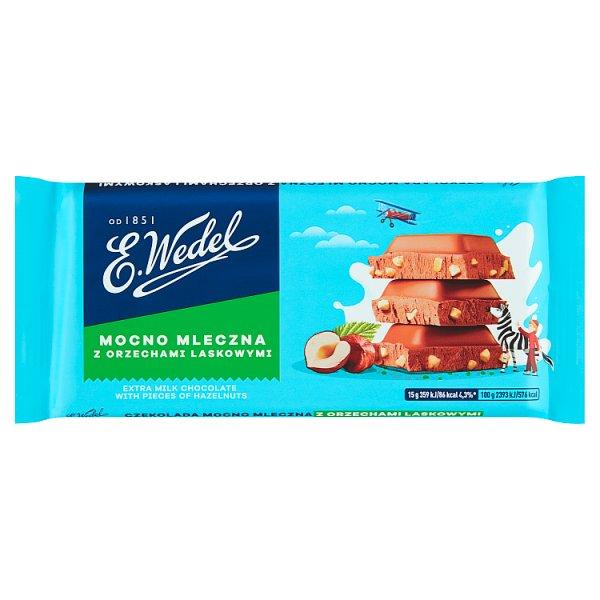 E. Wedel Czekolada mocno mleczna z orzechami laskowymi 90 g