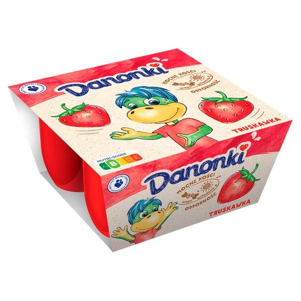 Danone Danonki Twarożek truskawka 200 g (4 x 50 g)