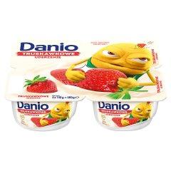 Danone Danio Serek homogenizowany truskawkowy 560 g (4 x 140 g)