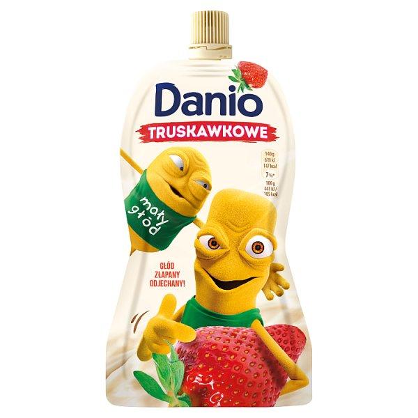 Danone Danio Serek homogenizowany truskawkowy 140 g