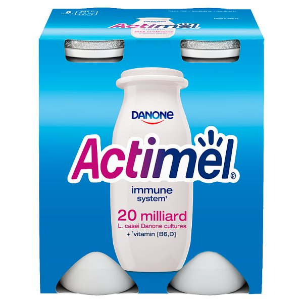 Danone Actimel Mleko fermentowane o smaku klasycznym 400 g (4 x 100 g)