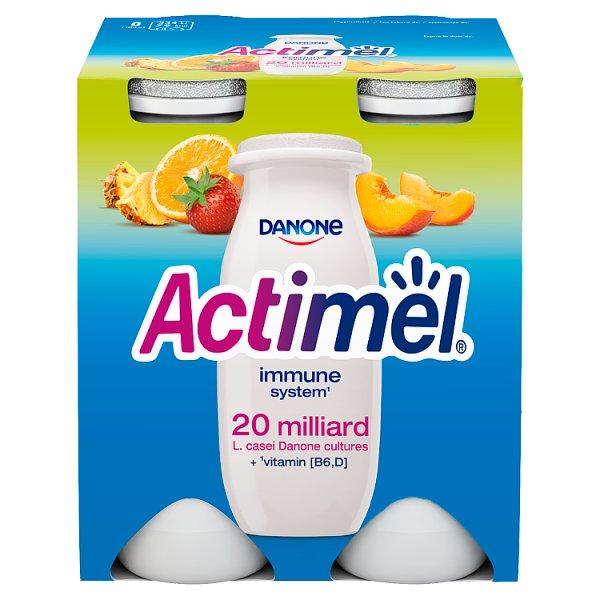 Danone Actimel Mleko fermentowane o smaku wieloowocowym 400 g (4 x 100 g)