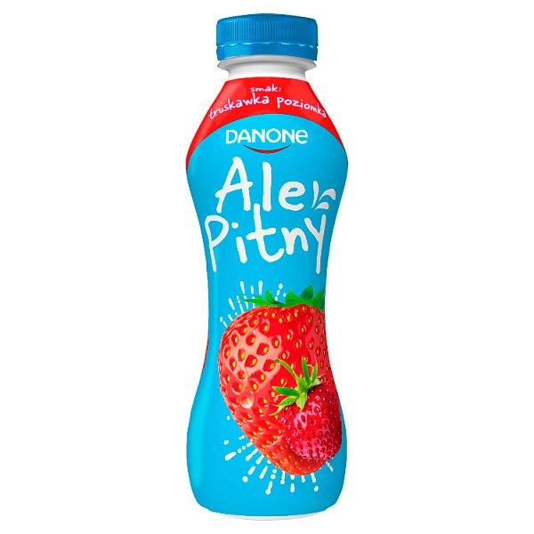 Danone ale Pitny Napój jogurtowy truskawka poziomka 290 g