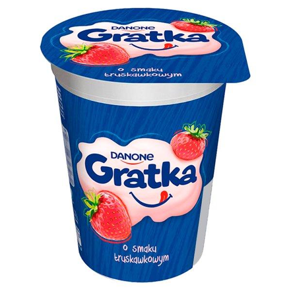 Danone Gratka Deser o smaku truskawkowym 290 g