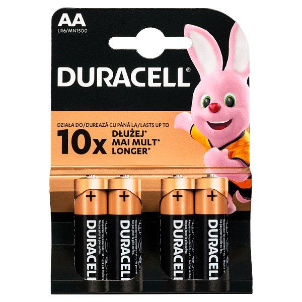 Duracell AA 1,5 V Bateria alkaliczna 4 sztuki