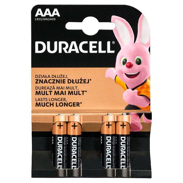 Duracell AAA 1,5 V Bateria alkaliczna 4 sztuki