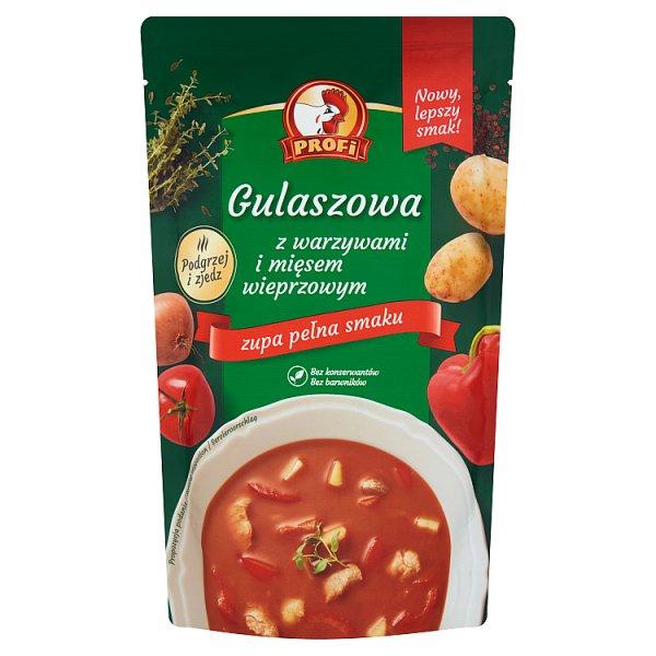 Profi Gulaszowa z warzywami i mięsem wieprzowym 450 g