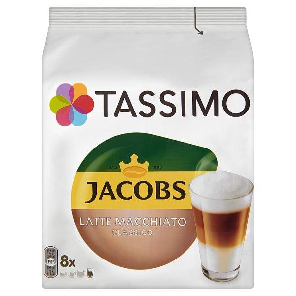 Tassimo Jacobs Latte Macchiato Classico Kawa mielona 8 kapsułek i mleko 8 kapsułek 264 g