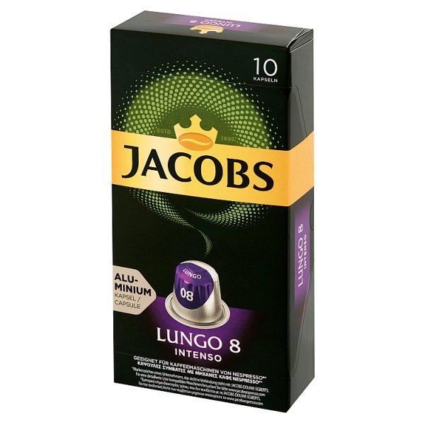 Jacobs Lungo Intenso Kawa mielona w kapsułkach 52 g (10 sztuk)