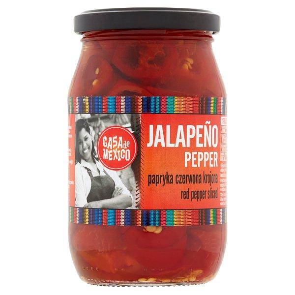Casa de Mexico Papryka czerwona Jalapeño krojona 340 g