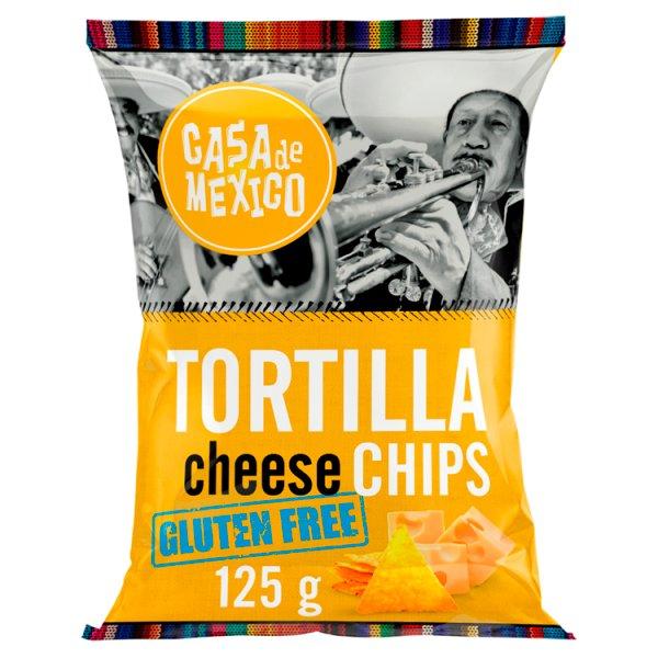 Casa de Mexico Tortilla cheese chips Bezglutenowe chipsy kukurydziane 125 g