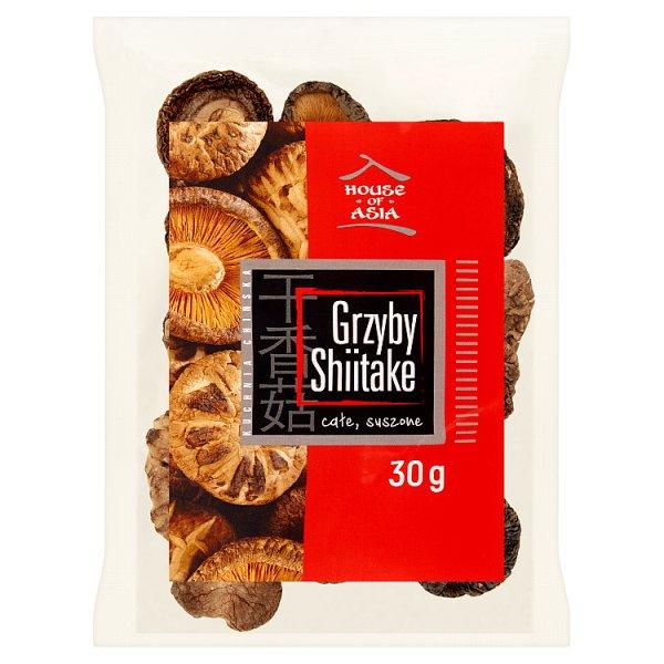 House of Asia Grzyby Shiitake całe suszone 30 g