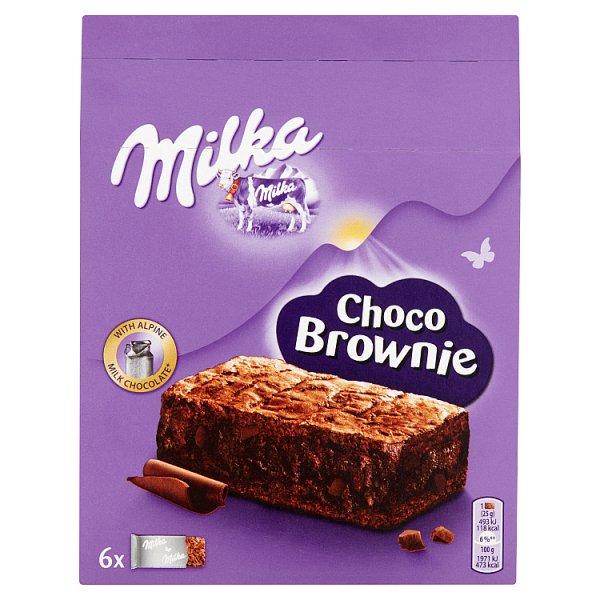 Milka Choco Brownie Ciastka z czekoladą i kawałkami czekolady mlecznej 150 g (6 x 25 g)