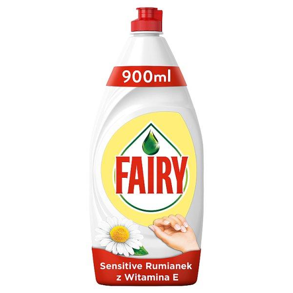Fairy Sensitive Rumianek z witaminą E Płyn do mycia naczyń 900 ml