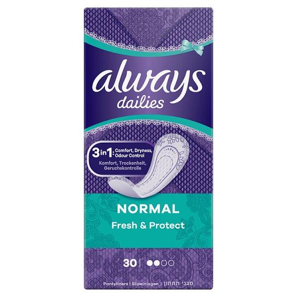 Always Dailies Normal Fresh & Protect Fresh Wkładki higieniczne, 30 sztuk