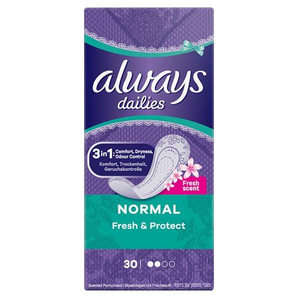 Always Dailies Normal Fresh & Protect  Wkładki higieniczne, 30 sztuk