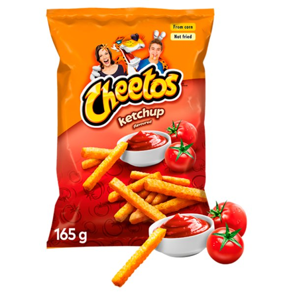 Cheetos Chrupki kukurydziane o smaku ketchupowym 165 g