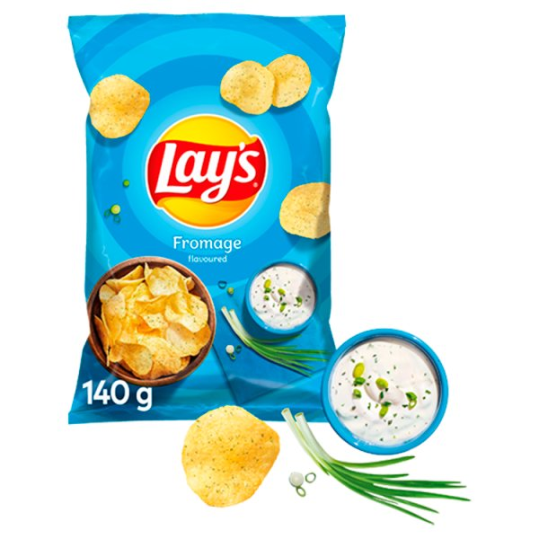 Lay's Chipsy ziemniaczane o smaku śmietankowego serka z ziołami 140 g