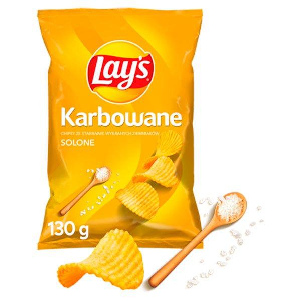 Lay's Chipsy ziemniaczane karbowane solone 130 g