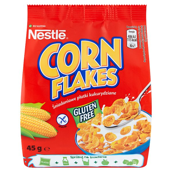 Nestlé Corn Flakes Śniadaniowe płatki kukurydziane 45 g