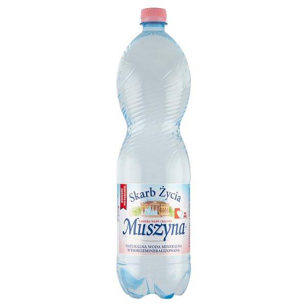 Muszyna Skarb Życia Naturalna woda mineralna wysokozmineralizowana częściowo odgazowana 1,5 l
