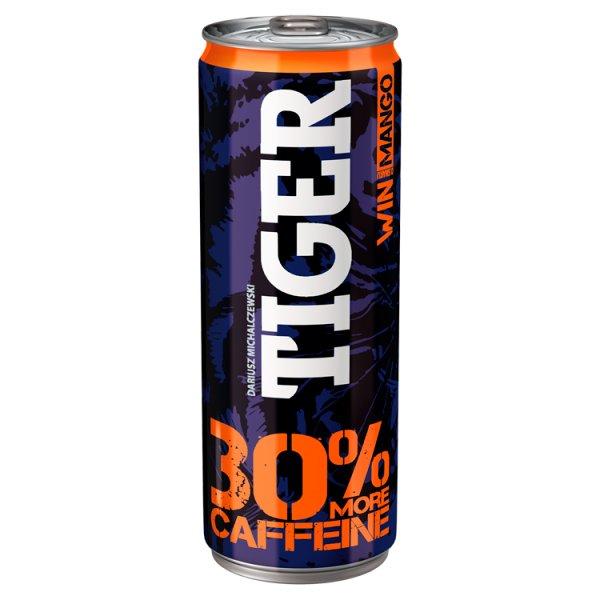 Tiger Win Gazowany napój energetyzujący o smaku mango 250 ml