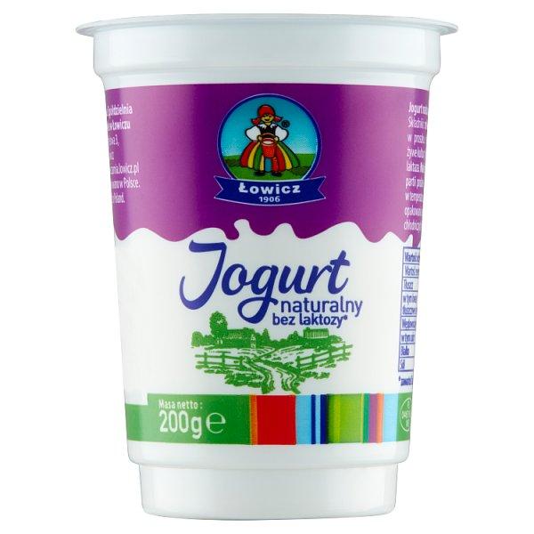 Łowicz Jogurt naturalny bez laktozy 200 g