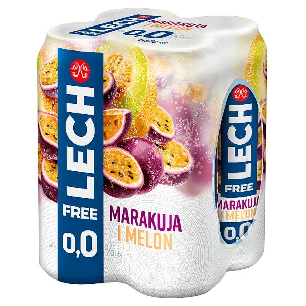 Lech Free Piwo bezalkoholowe marakuja i melon 4 x 500 ml