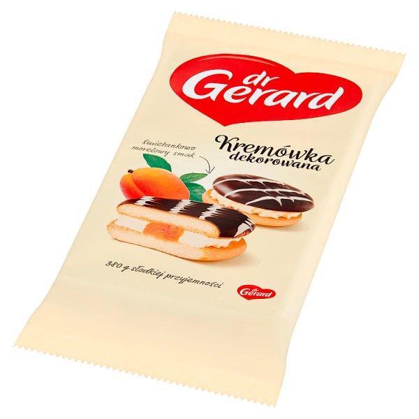 dr Gerard Kremówka dekorowana śmietankowo morelowy smak 380 g