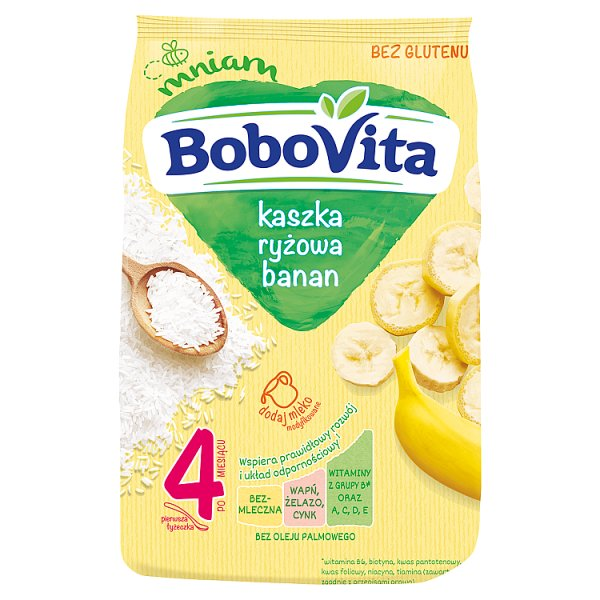BoboVita Kaszka ryżowa banan po 4. miesiącu 180 g