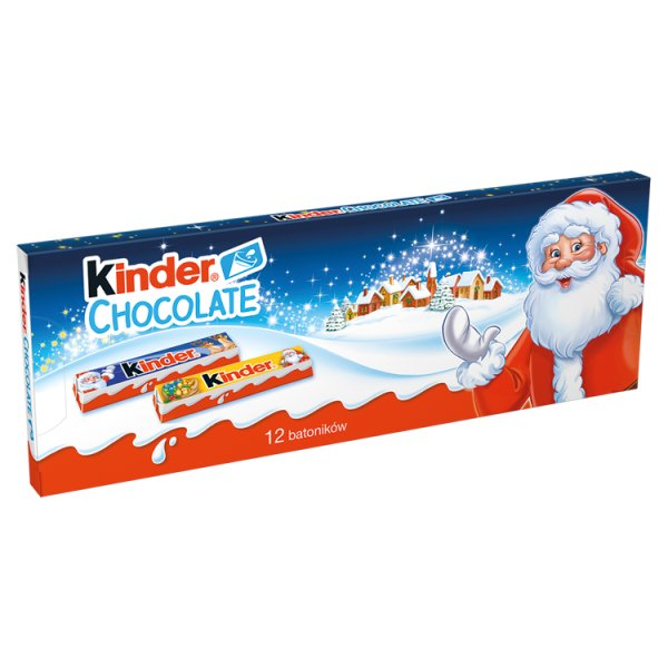 Kinder Chocolate Batoniki z mlecznej czekolady z nadzieniem mlecznym 150 g (12 x 12,5 g)