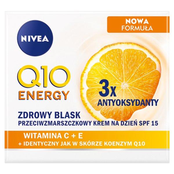 NIVEA Q10 Energy Zdrowy Blask Przeciwzmarszczkowy krem na dzień SPF 15 50 ml