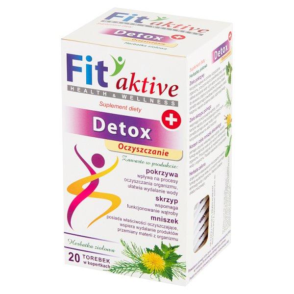 Fit aktive Detox Suplement diety herbatka ziołowa 40 g (20 x 2 g)