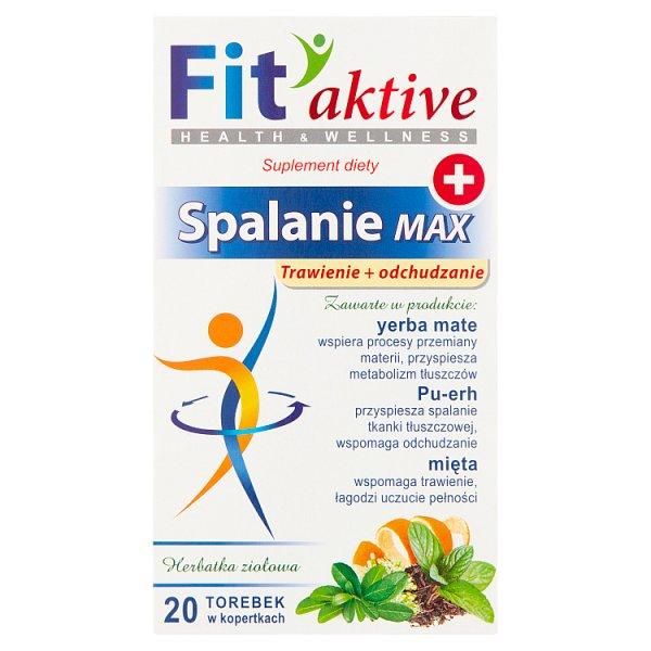 Fit aktive Suplement diety herbatka ziołowa spalanie max 40 g (20 x 2 g)